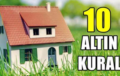 Ev Refahı İçin 10 Altın Kural