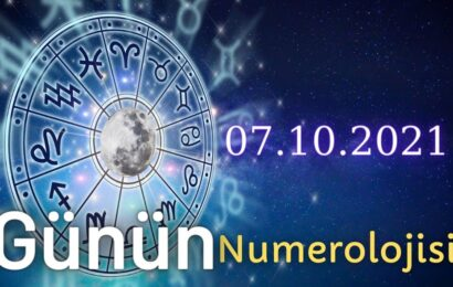 7 Ekim 2021 Günün Numerolojisi Ve Enerjisi: İyi Şans Çeken Şeyler